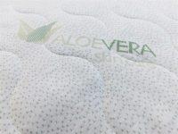Funkční potah ALOE VERA® prošitý rounem. Pratelný na 60°C. Snímatelný se zipem do L,