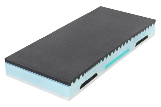 Kombinace Latexu a měkčí líné pěny s nosností až 150 kg. Super vzdušná a partnerská s dvěmi tuhostmi stran.