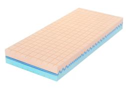 Matrace z paměťové pěny Tropico Guard Medical 90x200 cm - Obě strany matrace mají profilace ve tvaru kostek, vyvinutou pro zdravotní matrace.