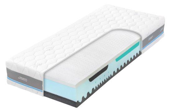 Spěte jako král na ortopedické matrací Alpine Blue Air. Dopřejte si maximální pohodlí. Skvělá ortopedická matrace zajistí optimální podporu páteře a tím se Vaše tělo v noci zaslouženě uvolní.