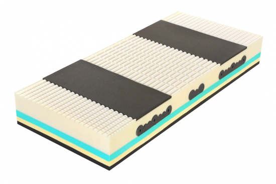 Matrace SPIRIT Superior Latex 1+1 Luxusní ortopedická matrace s podílem Visco a Latexu, s volitelnou ... Rozměr: 200 x 90 cm