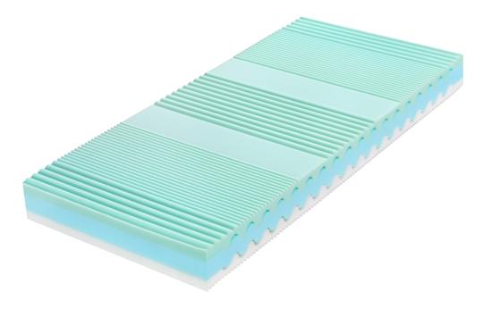 Komfortní semizónová matrace je partnerskou matrací, neboť je dvojí tuhosti. Je ortopedická, anatomická a hygienická