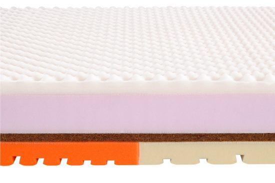 Tuhá matrace vyztužená kokos-latexovou deskou. Pěnová matrace o výšce 20 nebo 24 cm pro milovníky tvrdého poležení