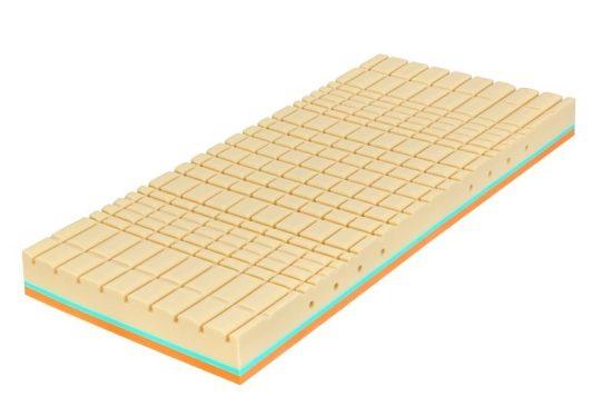CubeCare komfortní profilace - tato profilace byla vyvinuta pro zdravotní a ortopedické matrace, každá kostička speciálně vyrovnává vyvinutý tlak