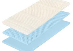 Krycí matrace z pružné Flexifoam® pěny s rovnou ložnou plochou ve snímatelném potahu