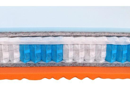 Oboustranná vzdušná matrace s rozdílnou tuhostí stran a s vysokou bodovou elasticitou pro dokonalou podporu páteře