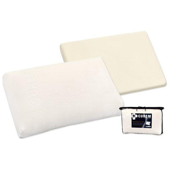 Curem Anatomický polštář Mikado Luxusní polštář vyrobený speciální technologií nástřiku viskoelastické pěny CuremfoamTM o velmi vysoké objemové