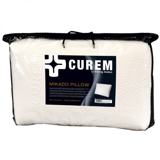 Anatomický polštář Curem Mikado Luxusní polštář vyrobený z viskoelastické pěny CuremfoamTM o velmi vysoké hustotě. Anatomický polštář má oblíbený tvar .