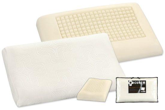 Curem Anatomický polštář Belveder Luxusní ergonomický polštář vyrobený speciální technologií nástřiku viskoelastické pěny CuremfoamTM. Polštář má osvědčenou anatomickou konstrukci