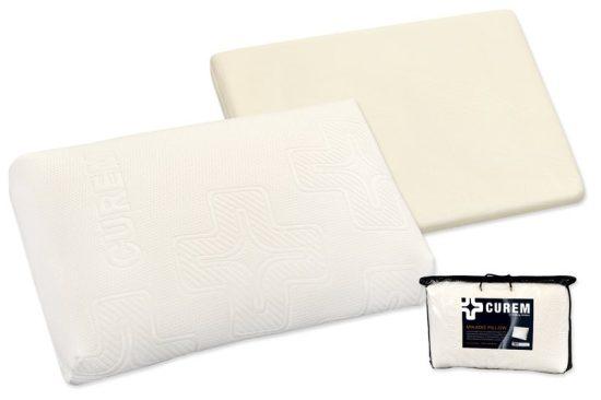 Anatomický polštář - Curem Mikado + dárek doprava ZDARMA. Luxusní polštář vyrobený speciální technologií nástřiku viskoelastické pěny