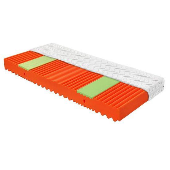 Ortopedická matrace Visco Relax je vyrobena z pružné a pevné pěny FLEXIFOAM a pěny VISCO v ramenních zónách