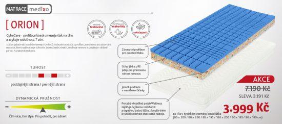 Robustní zdravotní matrace s pokročilým systémem profilace proti otlakům