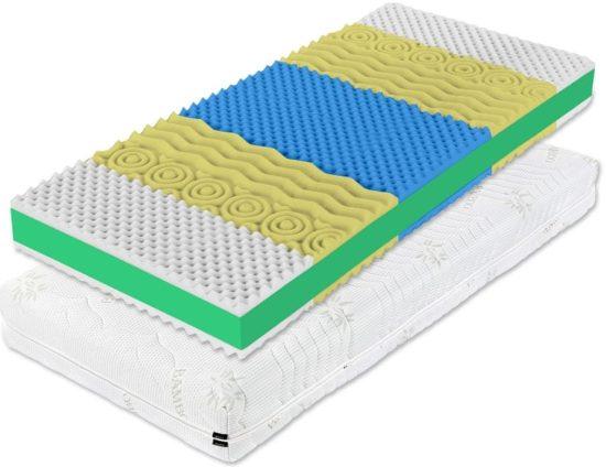 Poskytuje optimální komfort, kvalitní oporu těla a vzdušnost pro vyšší hygienu během spánku. Matraci můžete využívat z obou stran